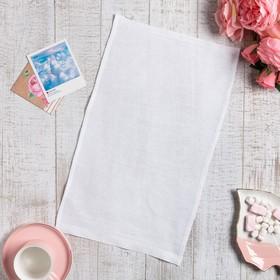 Полотенце вафельное Доляна 30*45± 3 см, цв. белый, 100% хлопок, 200 гр/м2 Ош