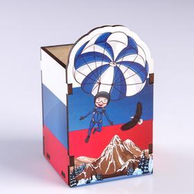 Подставка для карандашей 'Парашютист' триколор Ош