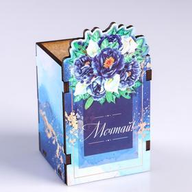 Подставка для карандашей 'Мечтай!' цветы Ош