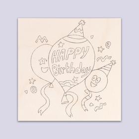 Доска для выжигания 'Happy birthday' воздушные шарики Ош