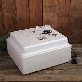 Инкубатор бытовой, на 63 яйца, автоматический переворот, многорежимный, цифровой термометр, 220 В/12 B Ош
