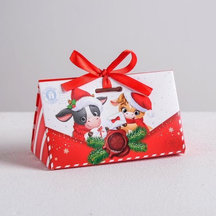 Бонбоньерка «Новогоднее письмо», 10 × 5,5 × 5,5 см