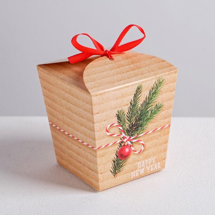 Бонбоньерка Happy new year, 7,5 × 8 × 7,5 см