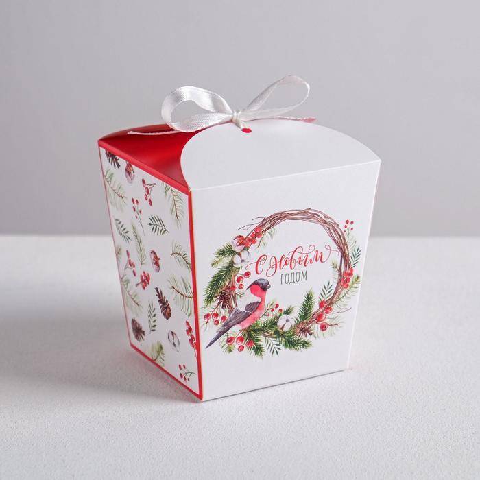 Бонбоньерка «Новогодний венок», 7,5 × 8 × 7,5 см