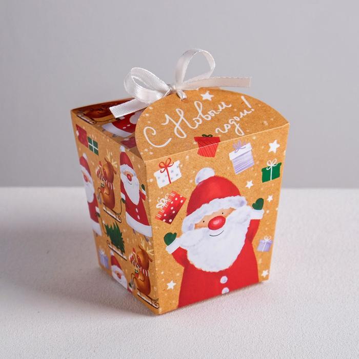 Бонбоньерка «Санта», 7,5 × 8 × 7,5 см
