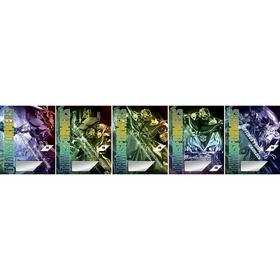 Тетрадь 18 листов в линейку Transformers, обложка мелованный картон, УФ-лак, блок офсет, МИКС