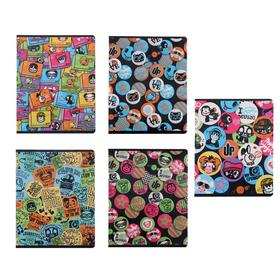 Тетрадь 48 листов в клетку Muy Pop, обложка мелованный картон, УФ-лак, блок офсет, МИКС