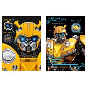 Блокнот А6, 40 листов на гребне Transformers, картонная обложка, ВД-лак, МИКС