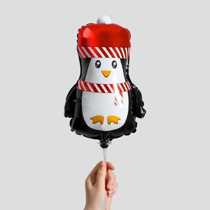 Шар фольгированный 12 Новогодний пингвинёнок