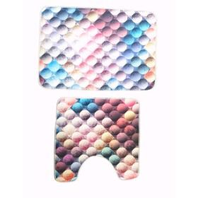 Комплект ковриков Bubble, 70х50 см, 50х50 см, цифровая фото-печать, микрополиэстер