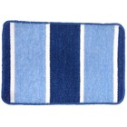 Коврик для ванной Line, 40 х 60 см, полипропилен, цвет голубой