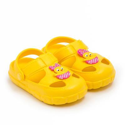 Сабо детские, цвет жёлтый, размер 21 - Фото 1