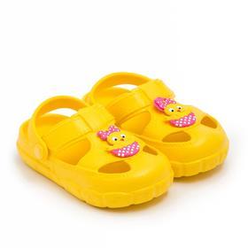 Сандалии детские, цвет жёлтый, размер 24 Ош