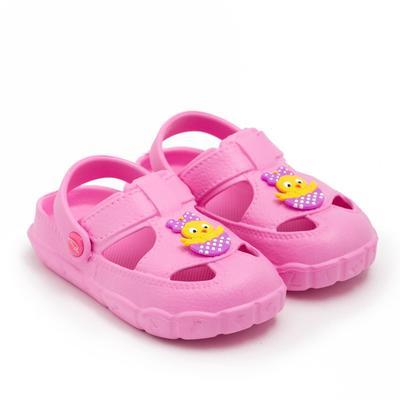 Сабо детские, цвет розовый, размер 23 - Фото 1