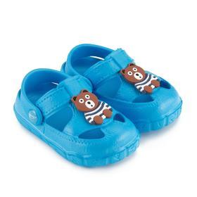 Сандалии детские, цвет голубой, размер 25 Ош