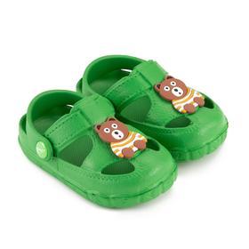 Сандалии детские, цвет зелёный, размер 21 Ош