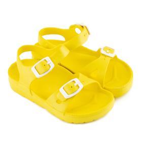 Сандалии детские, цвет жёлтый, размер 27 Ош