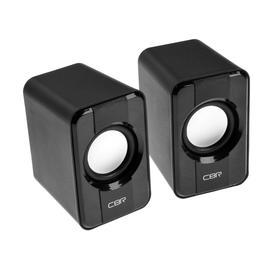Компьютерные колонки 2.0 CBR CMS 336 Black, 2х3 Вт, USB, чёрные