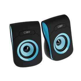 Компьютерные колонки 2.0 CBR CMS 366 Blue, 2х3 Вт, USB, чёрно-голубые