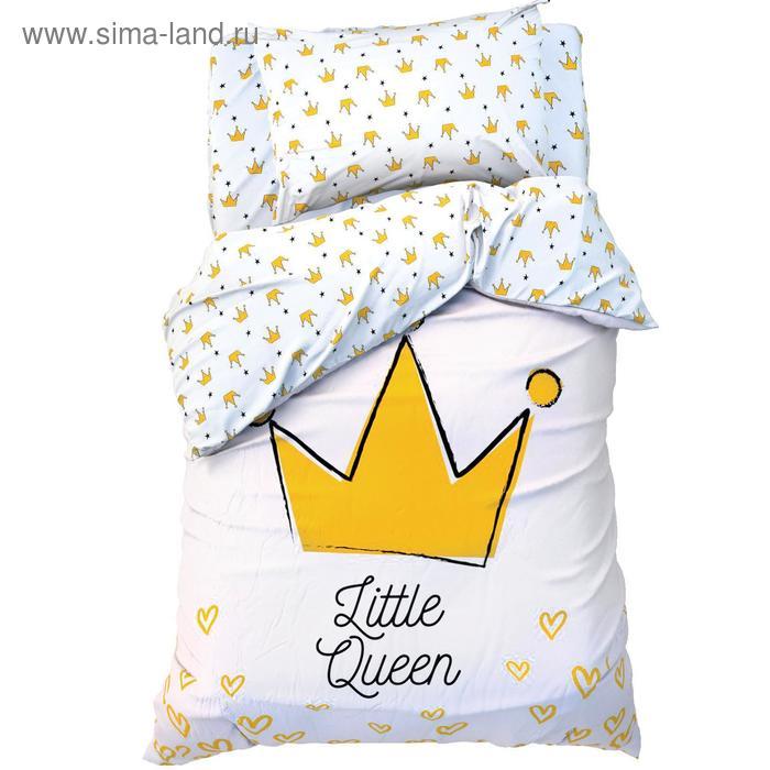 """Постельное белье """"Этель"""" 1.5 сп Little queen 143*215 см, 150*214 см, 50*70 см -1 шт,100% хл, бязь"""