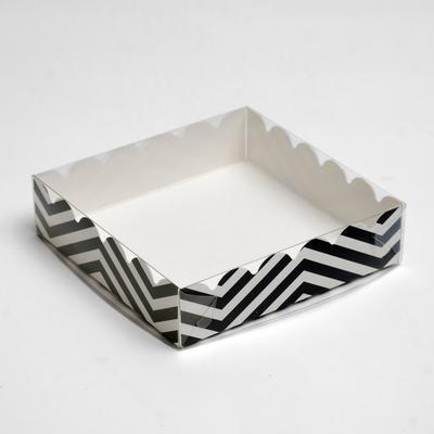"""Коробочка для печенья """"ЗигЗаг"""", белая, 12 х 12 х 3 см"""