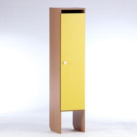 Шкаф для одежды 312х340х1420 (1-мест),  ЛДСП, корпус - бук, фасад - цветной Ош