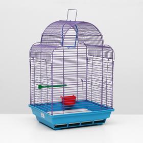 Клетка для птиц 'Купола' комплект, 35 х 29 х 51 см, синий/фиолетовый Ош