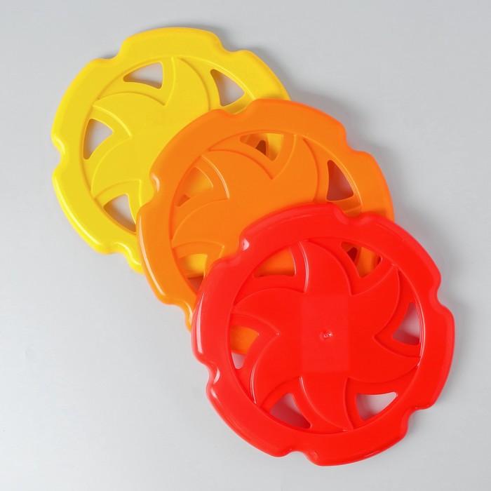Летающй диск Фрисби 23 23 2 см, МИКС