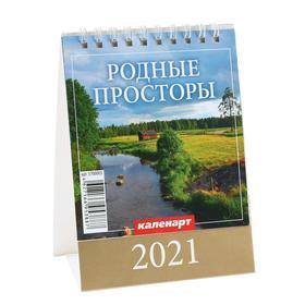 """Календарь настольный, домик """"Родные просторы"""" 2021 год, 10х14 см"""
