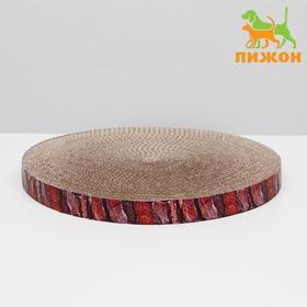 Гофрокогтеточка 'Пижон' круглая 'Спил сосны', с пропиткой, 28 х 2,5 см Ош