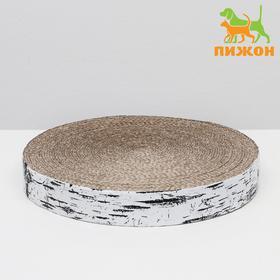 Гофрокогтеточка 'Пижон' высокая круглая 'Спил березы', с пропиткой, 28 х 4 см Ош