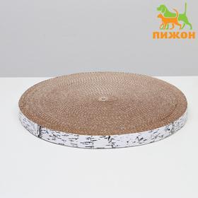 Гофрокогтеточка 'Пижон' круглая 'Спил березы', с пропиткой, 35 х 2,5 см Ош