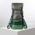 Рюкзак туристический, 20 л, отдел на шнурке, 2 наружных кармана, цвет зелёный/серый