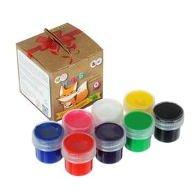 Краски пальчиковые набор 8 цветов х 20мл, ARTEVIVA №1 Классический, 160 мл (улучшенная формула), 3+