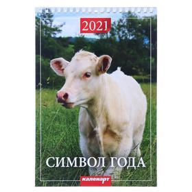 """Календарь на пружине без ригеля """"Символ года. Вид 3"""" 17х25 см, 2021год"""