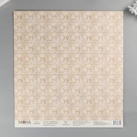 """Бумага для скрапбукинга """"Кружевные облака"""" 30,5х30,5 см плотность 190гр/м2"""