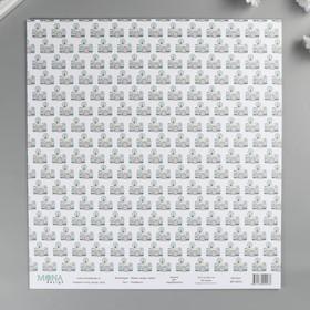 "Бумага для скрапбукинга ""Улыбайся"" 30,5х30,5 см плотность 190гр/м2"
