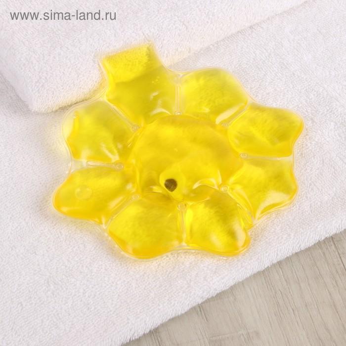 Грелка солевая медицинская физиотерапевтическая «Солнце», цвет жёлтый