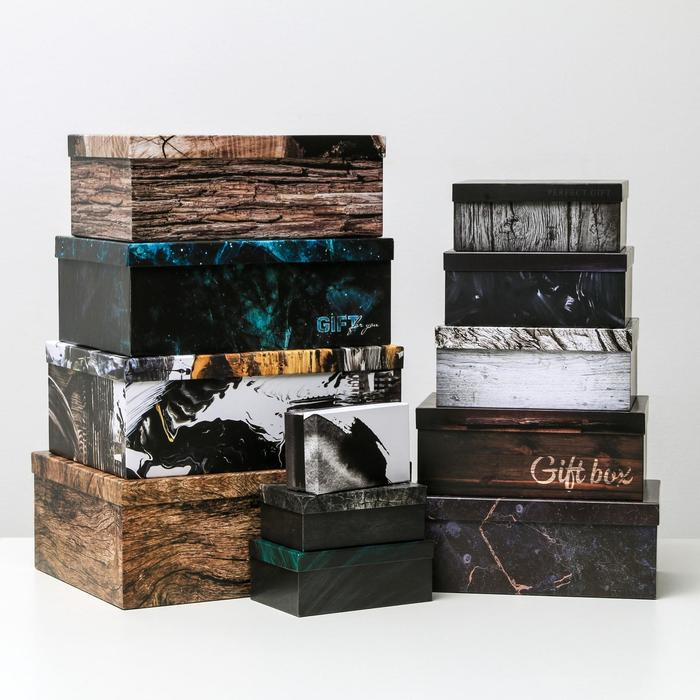 Набор коробок подарочных 12 в 1 «Gift box», 18 х 11 х 6.5 см - 46,6 х 35,2 х 17.5 см