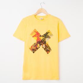Футболка мужская, цвет жёлтый, размер 44