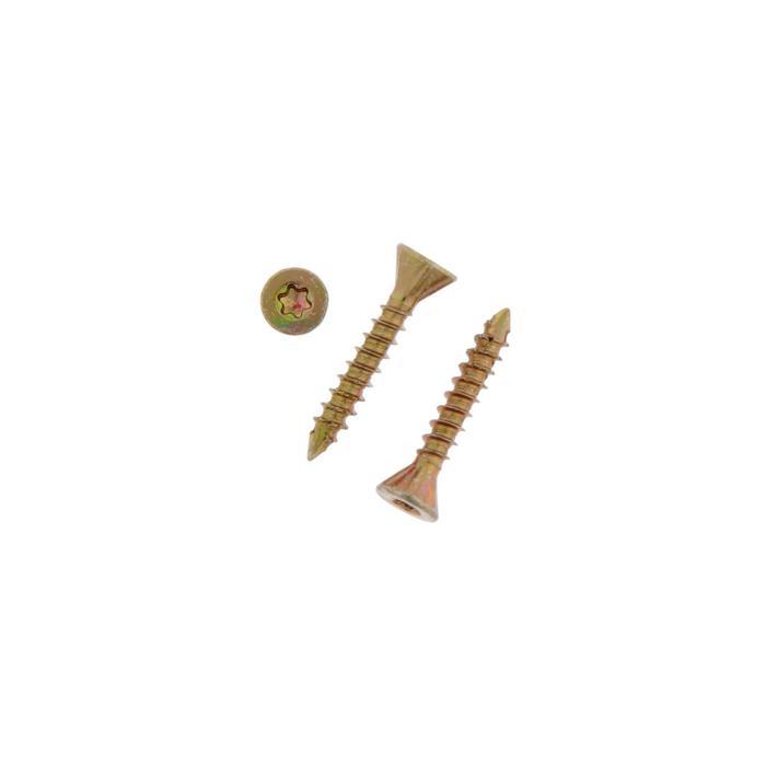 Саморез отделочный INFIX, 3.2х20 мм, потай, Torx 10, желтый цинк, 500 шт.