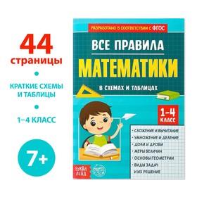 Сборник для 1-4 классов «Все правила математики», 44 стр.