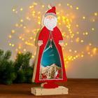Новогодний декор с подсветкой «Дед мороз» 2АА, 7х15х39 см