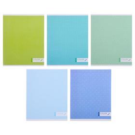 Тетрадь 96 листов в клетку «Моноколор», обложка мелованный картон, блок офсет, МИКС