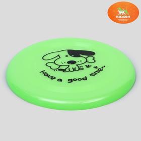 Фрисби пластик, 20 см, зелёный Ош