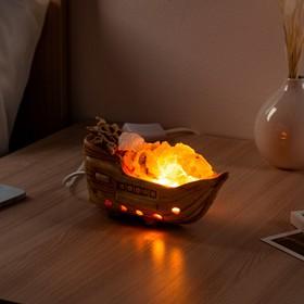 Соляная лампа 'Кораблик керамический', 19 см × 8 см × 10,5 см Ош
