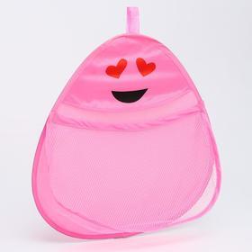 Сетка для хранения игрушек в ванной 'Смайлик', цвет розовый Ош