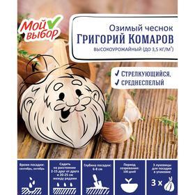 Чеснок озимый 'Григорий Комаров', калибр 40+ мм, упаковка 3 шт Ош