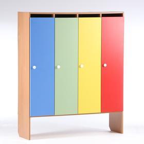 Шкаф для одежды 1200х340х1420 (4-мест), ЛДСП, корпус бук, фасады цветные Ош