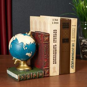 Держатель для книг интерьерный 'Глобус и книги' МИКС 16,5х13х11,5 см Ош